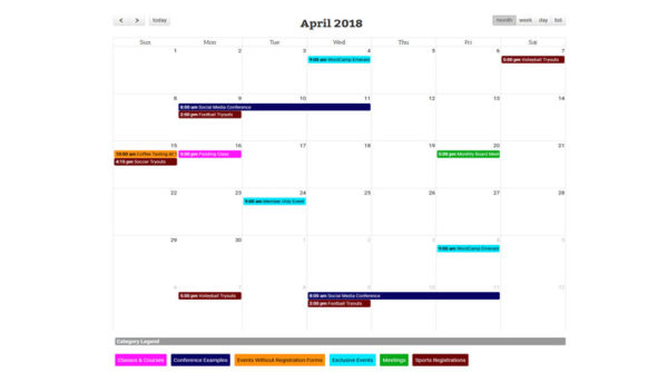 calendar screenshot 2 Features